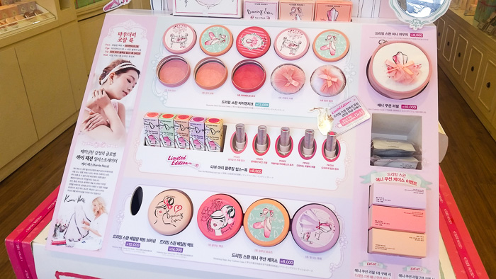 Etude House Dreaming Swan store display and first impressions