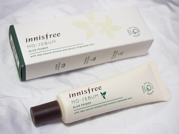 Innisfree No-Sebum Blur Primer, also my first tinted primer