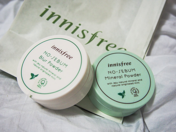 Innisfree No-Sebum Blur Powder, after a week of use